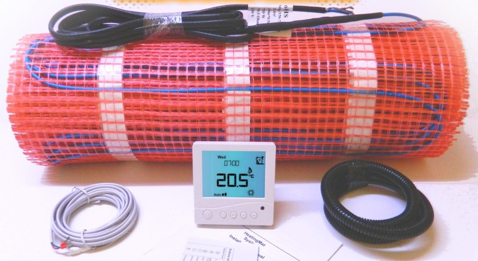 A fűtőszőnyeg üzemeltetéséhez dupla szenzoros termosztát szükséges. A fűtőszőnyeg mellé válasszon termosztátot a termosztátok oldalról..