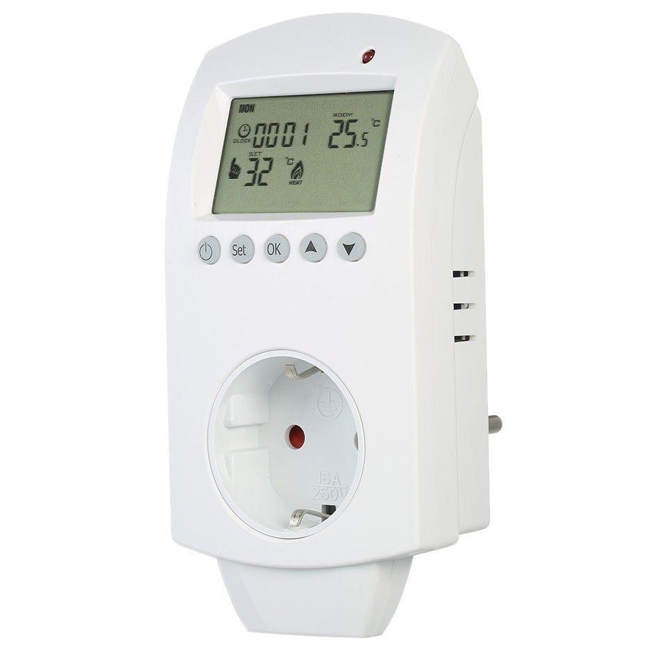 Konnektor - dugalj programozható termosztát 16 A
